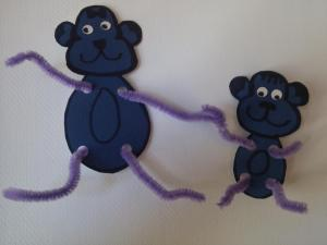 A craft project I suggested for our store of a mama monkey and her child!