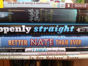 There's still time to celebrate Pride Month with these great books! One is about a boy who runs away from home to audition for a musical. One is based on real-life events that happened in the Central Park Zoo. One is a great coming of age novel that will make you glad there are books that introduce you to different kinds of people or that help you feel you're not alone.
