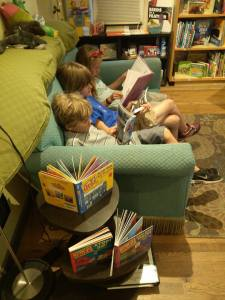 I captured this great picture of some kids reading!