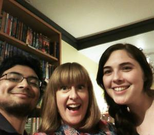 Bookshelfie with Kari Luna and a co-worker during Indies First. So much fun!