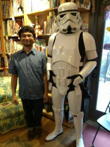 Here I am with a Storm Trooper.