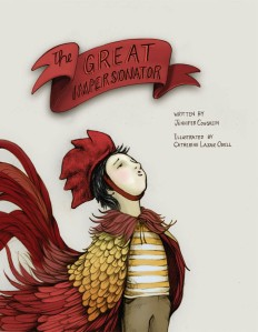 The Great Impersonator by Jennifer Coughlin, Illustrated bu Catherin Lazar Odell [**]- One of the perks of working in a bookstore is getting to meet new writers or illustrators and helping them get their books known, if we like it. Luckily, I enjoyed this story of a boy who like to imitate other creatures. Great read-aloud and opportunity for kids to mimic the sounds they hear and let their imaginations run wild. The illustrations are wonderful.