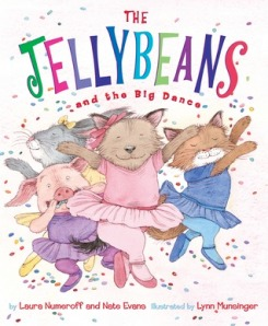 The Jellybeans and the Big Dance by Laura Joffe Numeroff and Nate Evans, Illustrated by Lynn Munsinger [*]- The kindergartener read this book all by herself. There were some difficult words but she powered through. I can't say I liked it anymore now than the first time I had to read it.