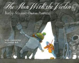 The Man With the Violin by Kathy Stinson, Illustrated by Dusan Petricic [**]- This was a case of reading too many good reviews of it and being disappointed. It was good enough for me to watch some of the clips this event was based on.