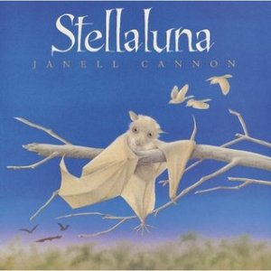 Stellaluna by Janell Cannon [**]- Stellaluna is another one of those beloved picture books I hadn't read until now. It's a sweet story of a baby bay separated from its mother who finds a new home with a family of birds. Lessons of starting over, learning to accept one's differences, and the multiple configurations of what makes up a family can be learned here.