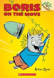Boris on the Move by Andrew Joyner [**]- Fans of Mercy Watson will enjoy the adventures of Boris, a warthog with a wild imagination. Short chapters, colored illustrations. At the end of each book are directions to make something related to the story. This was recommended to me by a kid!