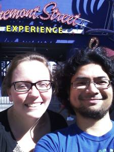 My BFF at the Fremont Street Experience!