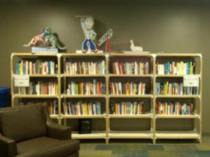 I love visiting libraries and bookstores. This is Zappos' Lending Library.