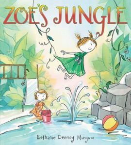 Zoe's Jungle by Bethanie Deeney Murguia [**]- This picture book is about an imaginative girl who enjoys exploring- and she doesn't have to really go anywhere because her imagination is so strong! I was surprised this was actually the third book in this series.