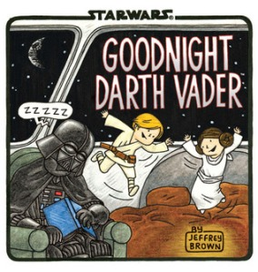 Goodnight Darth Vader by Jeffrey Brown [*]- Definitely not as good as the other books in the series. Maybe my not having watched the movies made me like it less since I didn't get all the references. Some of the rhyming was so bad I had to reread the lines to make sure I was reading the right words.