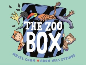 The Zoo Box by Ariel Cohn, Illustrated by Aron Nels Steinke [***]- This picture book serves as a great introduction to graphic novels. Reminded me a bit of Chris Van Allsburg's Jumanji. A bit dark, a bit odd, but funny as well- especially the last page. (The message- if there is one because I might have just made it up- might be insulting to those people who enjoy going to the zoo.)