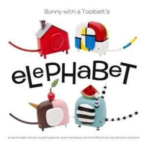 "Elephabet by Hilary Pfeifer [**]- Elephabet is by Portland artist Hilary Pfeifer of Bunny with a Toolbelt. In this fun and wild alphabet book, Pfeifer mixes pachyderms with portmanteaus creating hilarious creatures like ""acrobatipants"" and ""neopoliphants."" It will inspire readers of all ages to come up with their own. In fact, there's a ""Do-It-Your-Selfabet"" book as well!"