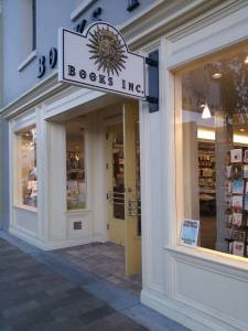 Books Inc. (Burlingame)- This tiny store was full of people buying books which made me happy!