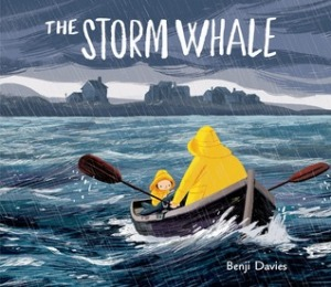 The Storm Whale by Benji Davies [**]- The cover and the illustrations caught my eye. A sweet story about a boy and his father and a beached whale. I will definitely keep this in mind for Father's Day.