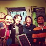 At Green Bean Books with Matt Holm (Babymouse, Squish) and co-workers including my boss. Picture from Kari Luna (The Theory of Everything)