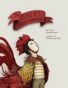 The Great Impersonator by Jennifer Coughlin, Illustrated by Catherin Lazar Odell [***]-  I enjoyed this picture book about a boy who likes to imitate other creatures. Great read-aloud and opportunity for kids to mimic the sounds they hear and let their imaginations run wild. The illustrations are wonderful.